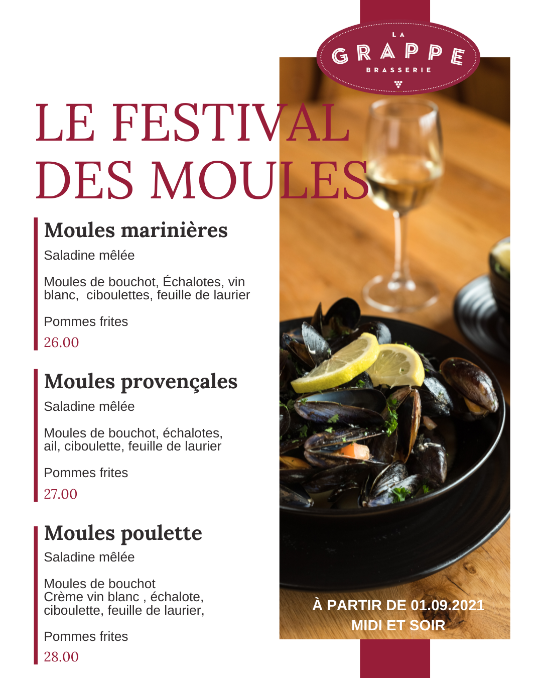 Moules cheyres